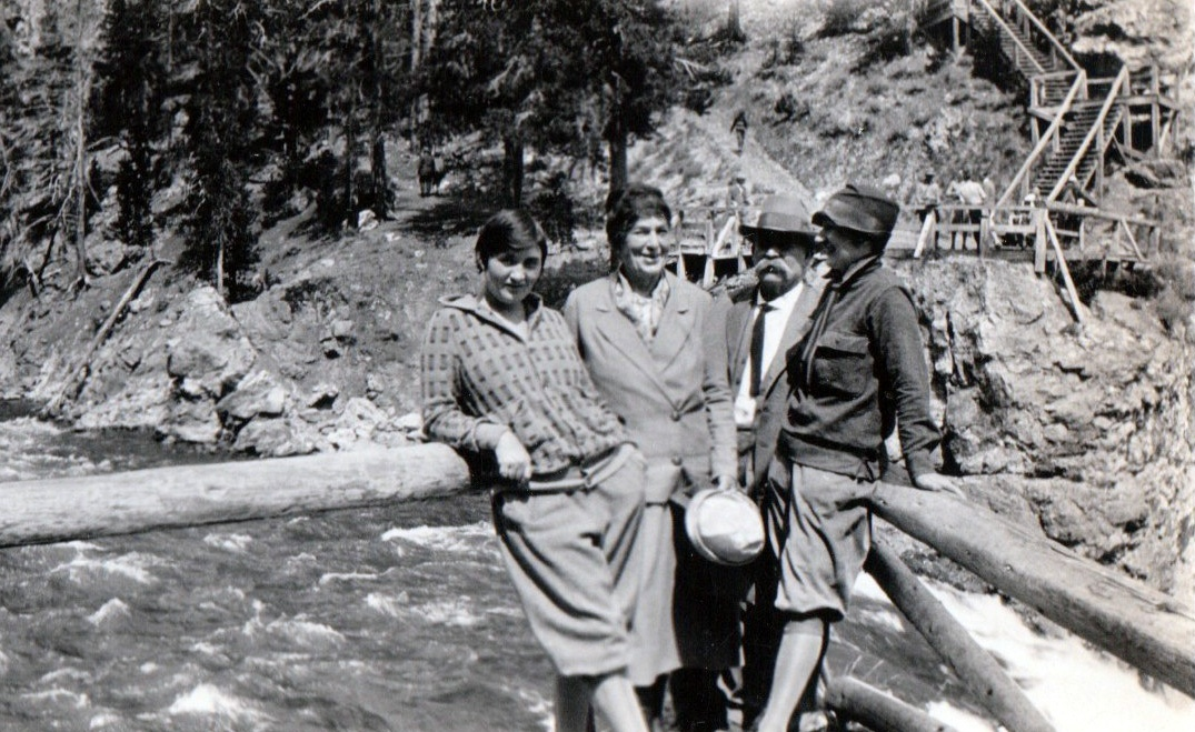 Ida-Nora-Will-and-Beulah-at-Mammoth-Falls